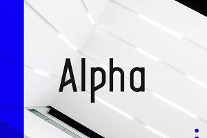 Alpha Typeface | 4 Styles