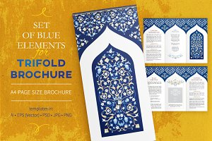 Blue Elements For Trifold Brochure