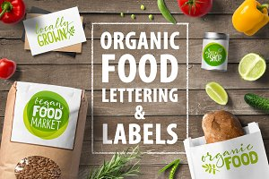 Organic Food Lettering & Labels