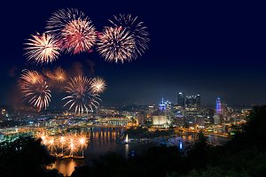 Fireworks over Pittsburgh for