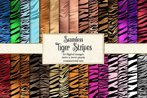 Tiger Stripes Seamless Patterns