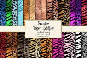 Tiger Stripes Seamless Patterns