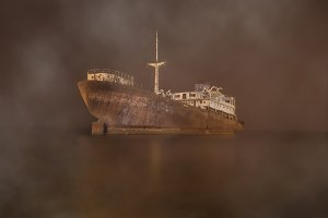 Gost ship in the myst