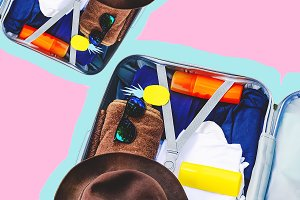suitcase with the necessary things.