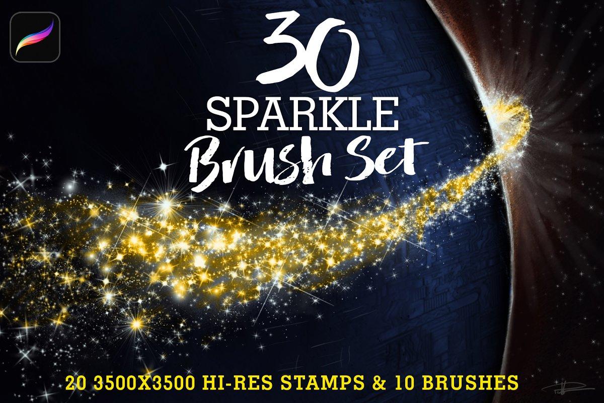 30 Sparkle Brush Set ~ Procreate Brushes ~ Creative Market