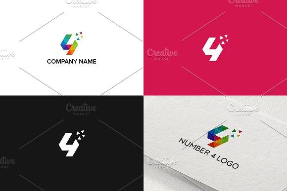 Number 4 logo design