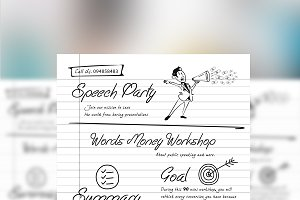 Handwriting Flyer Design