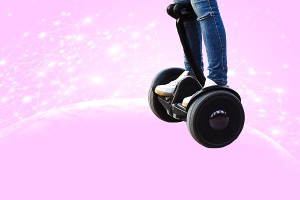 a man stands on a gyroscope. a new…