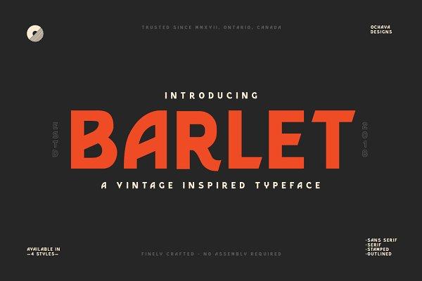 Fonts: ochaya designs - Barlet | Vintage Inspired