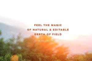 10 Editable DepthofField Backgrounds