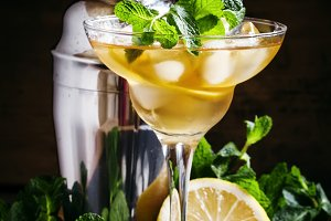 French daiquiri, alcohol cocktail wi