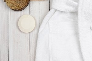 Bathrobe with Lotion in the Pocket