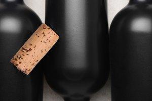 Flat lay still life of a wine cork o