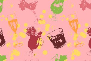 Alcohol alcohol drink pattern vector