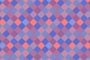 Striped squares geo seamless pattern