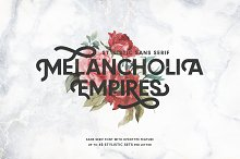 MELANCHOLIA - Stylistic Sans Serif by  in Display Fonts