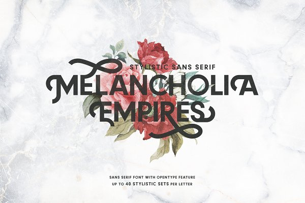 Display Fonts: AL - MELANCHOLIA - Stylistic Sans Serif