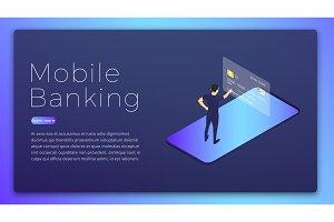 Mobile banking. Mobile bank app