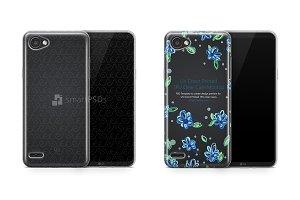 LG Q6 UV TPU Clear Case Mockup