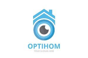 Vector eye and real estate logo