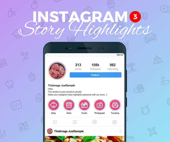 Instagram Story Highlight 170 Icons
