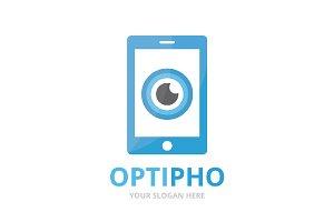 Vector eye and phone logo