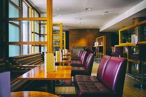 interior of stylish bar