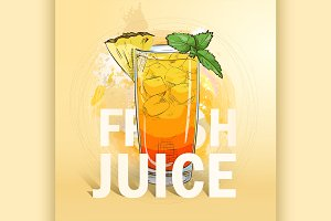 Summer fresh juice cocktail