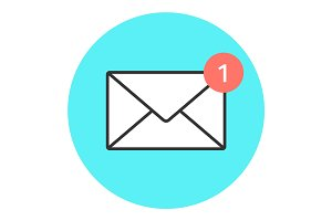 Icon of new email envelope