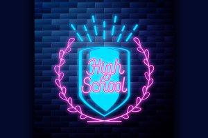 Vintage back to school emblem