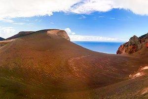 Landscape to Capelinhos volcano cald