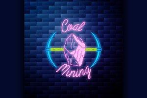 Vintage coal mining emblem