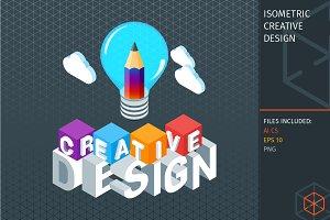 Isometric creative design concept