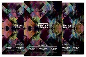 Smoke EDM Mix Flyer