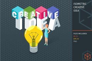 Isometric creative idea concept
