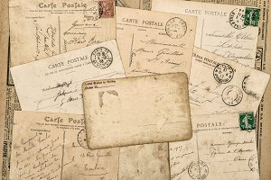 Vintage postcards handwritten letter
