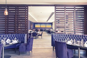 stylish interior of restaurant
