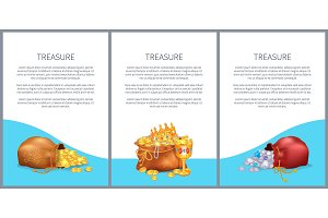 Treasure Posters Set Bags with