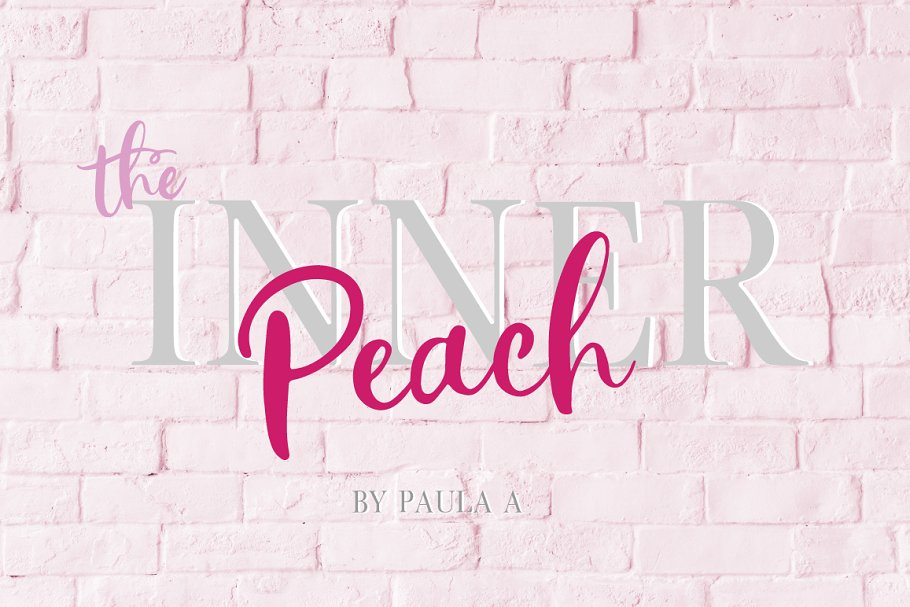 The Inner Peach | Font Duo in Script Fonts - product preview 8