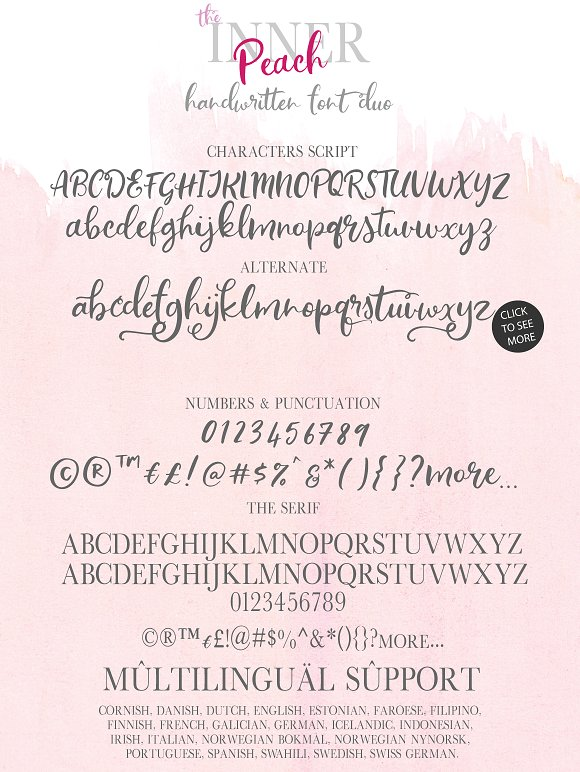 The Inner Peach | Font Duo in Script Fonts - product preview 9