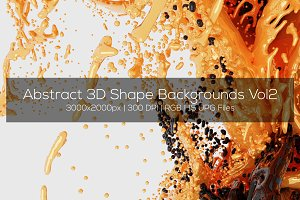 Abstract 3D Shape Backgrounds Vol2