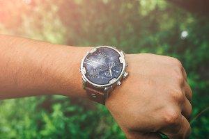 Big nice elegant men's watch