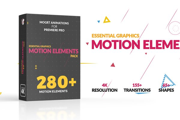 Motion Elements Pack MOGRT - 280+ PSD Template - 1500+ free 3D