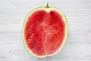 Half cutted watermelon