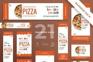 Banners Pack | Tasty Pizza