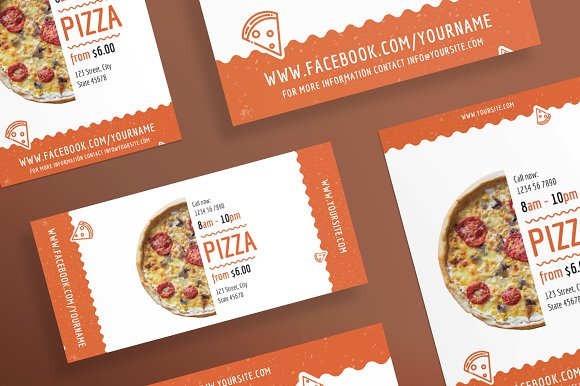 pizza flyer template flyer templates creative market