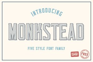 Monkstead Font (+ FREE Round Style)
