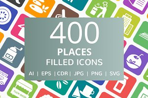 400 Professionals & Tool Filled Icon
