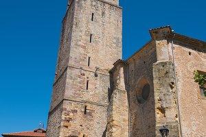 Comillas medieval church, Cantabria.