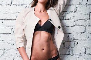 Fashion shot: posh sexy young woman